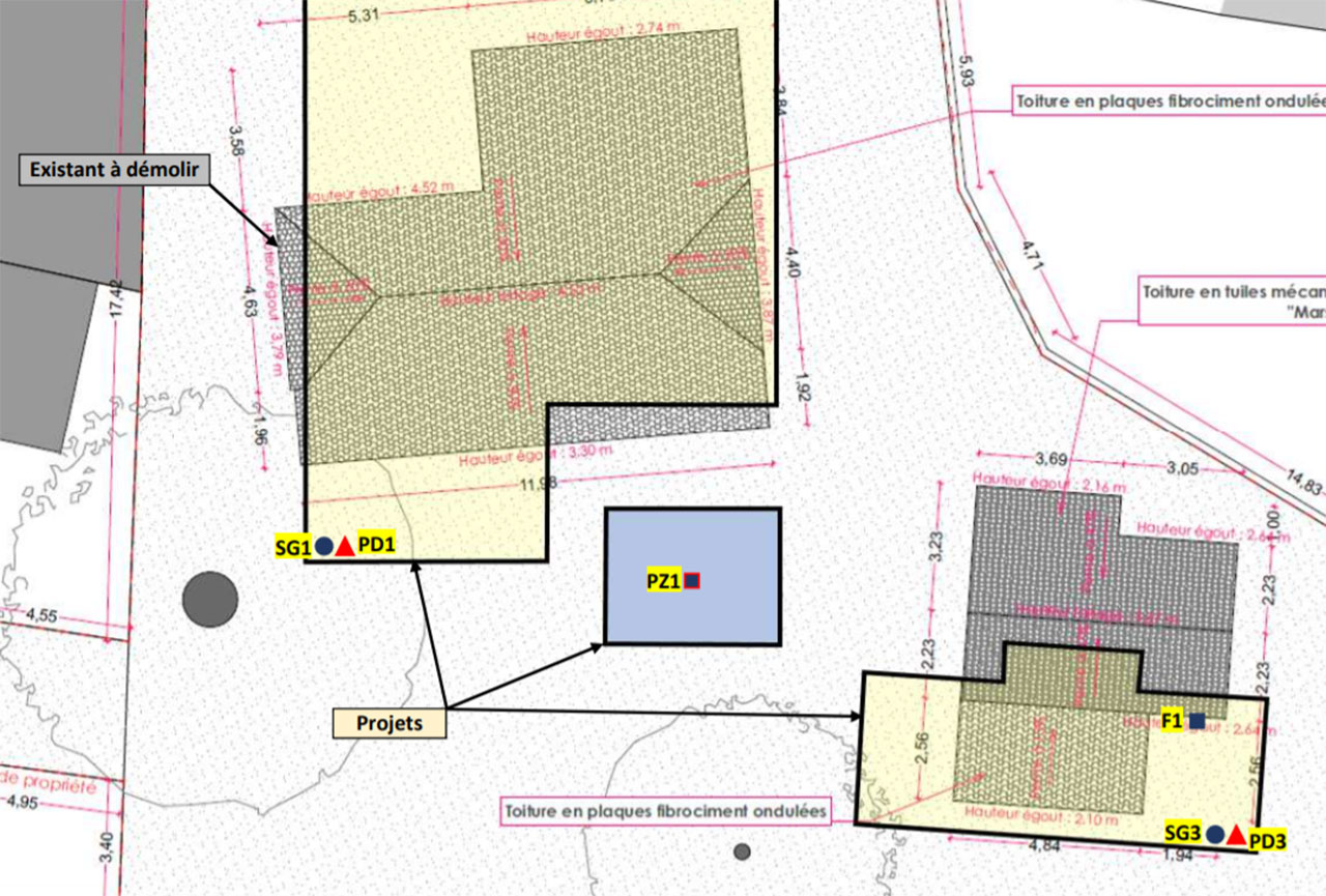 Rapport d'étude géotechnique de conception avant la construction d'une maison sur la commune d'ANDERNOS 33